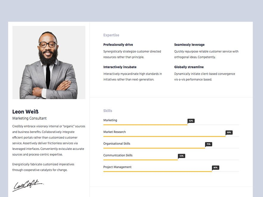 Bootstrap Resume Template Free Resumex Free Responsive HTML5 Bootstrap Resume Portfolio