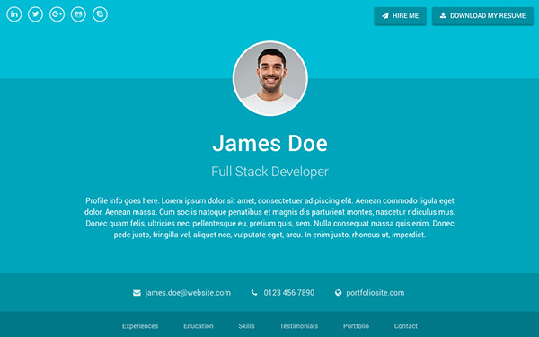 Bootstrap Resume Template Free Sphere Resume Cv Bootstrap 4