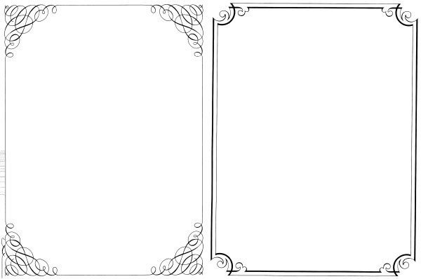 Border Template for Word 200 Free Vintage ornaments Frames and Borders