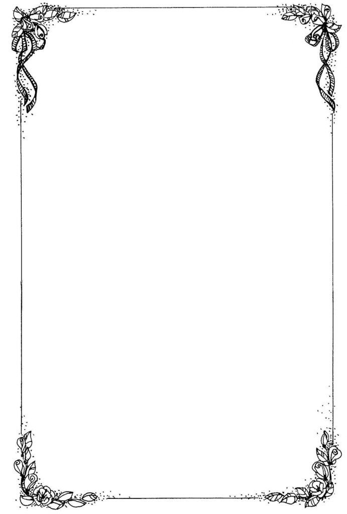 Border Template for Word Free Printable Borders for Word Documents Template