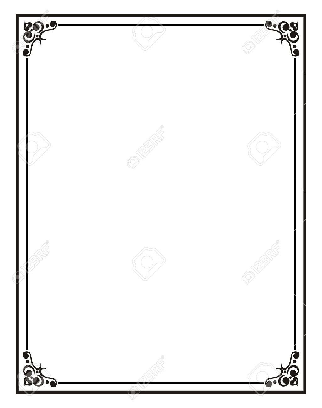 Border Template for Word Home Fice Certificate Border Stock S