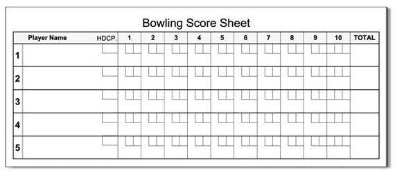 Bowling Score Sheet Excel Bowling Score Pad 3 5 X 8 5 50 Sheets Notepad