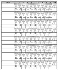 Bowling Score Sheet Excel Bowling Score Sheet with Pin Template
