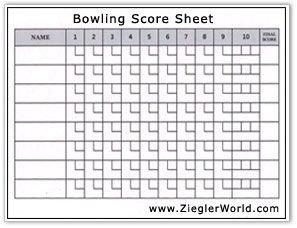 Bowling Score Sheet Excel Free Printable Bowling Record Sheets
