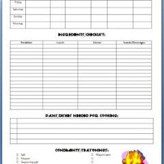 Boy Scout Meal Planning Template Best 25 Camping Meal Planner Ideas Only On Pinterest