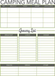 Boy Scout Meal Planning Template Boy Scout Duty Roster Template