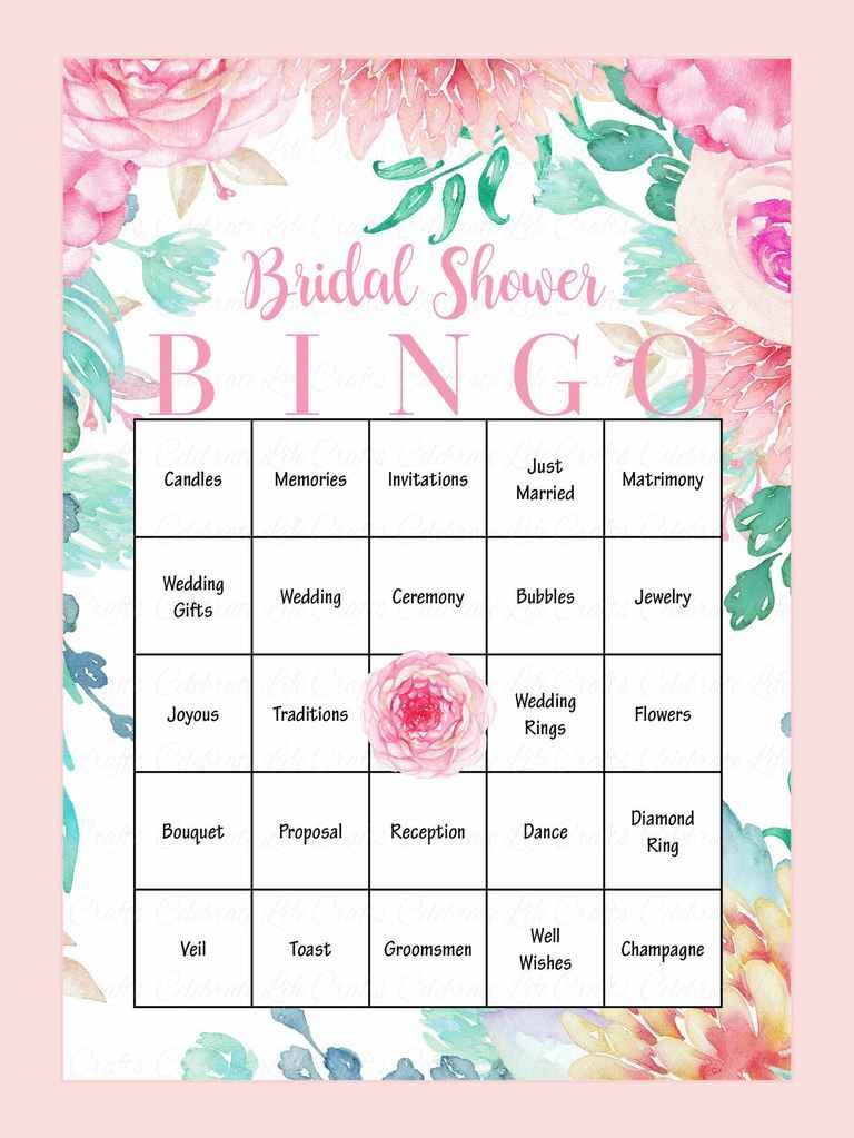 Bridal Bingo Free Template Blank 10 Printable Bridal Shower Games to Diy