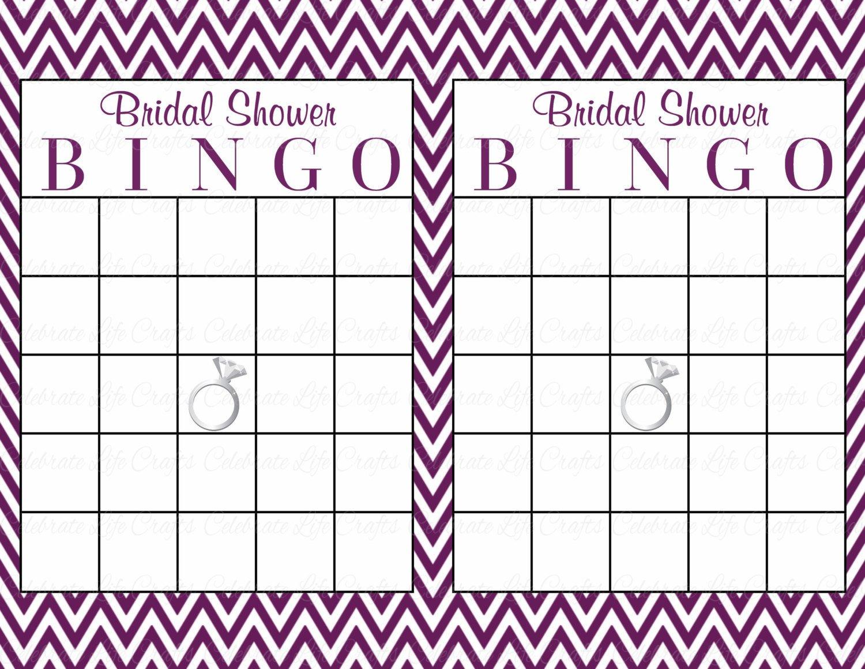 Bridal Bingo Free Template Blank 60 Bridal Bingo Cards Blank & 60 Prefilled Cards Printable