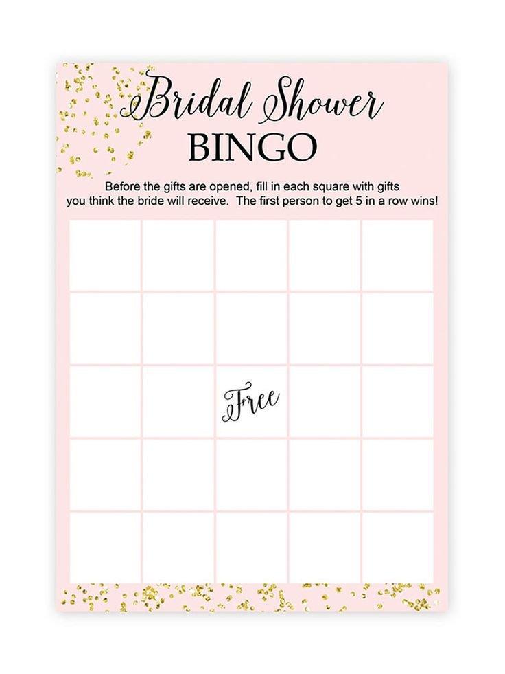 Bridal Bingo Free Template Blank Best 25 Bridal Shower Bingo Ideas On Pinterest