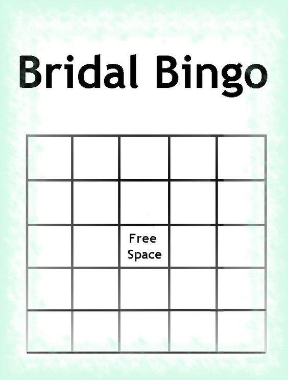 Bridal Bingo Free Template Blank Free Printable Bridal Shower Invitations