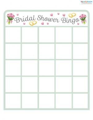 Bridal Bingo Free Template Blank Unique Bridal Shower Games