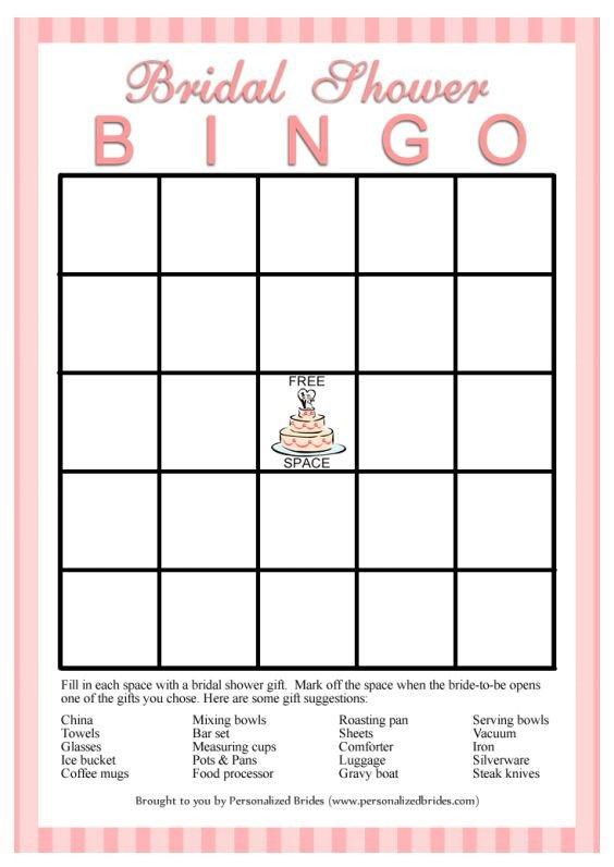 Bridal Shower Bingo Templates 11 Free Printable Bridal Showers Bingo Cards