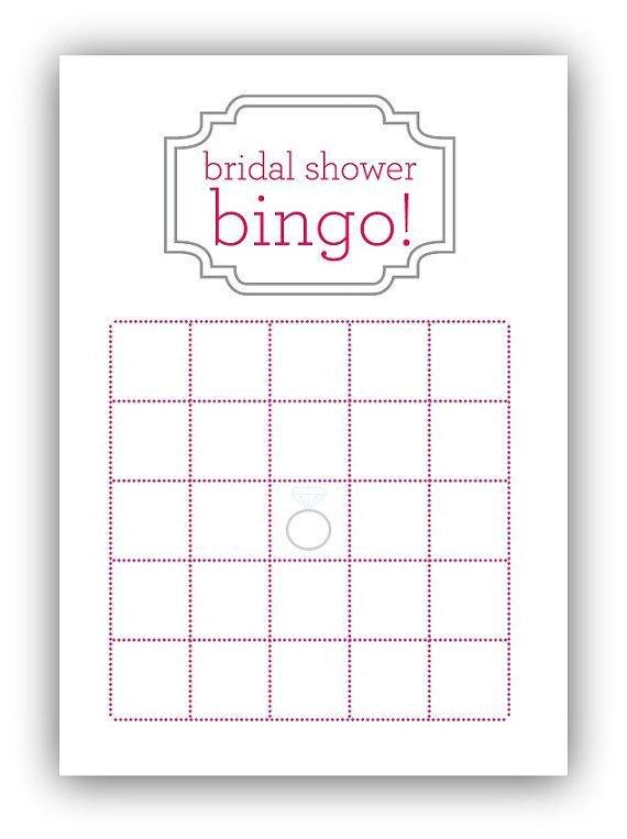 Bridal Shower Bingo Templates Bridal Shower Bingo Card by Gracefully Made Designs On
