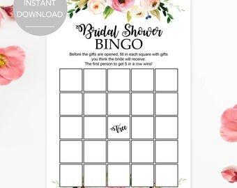 Bridal Shower Bingo Templates Bridal Shower Bingo
