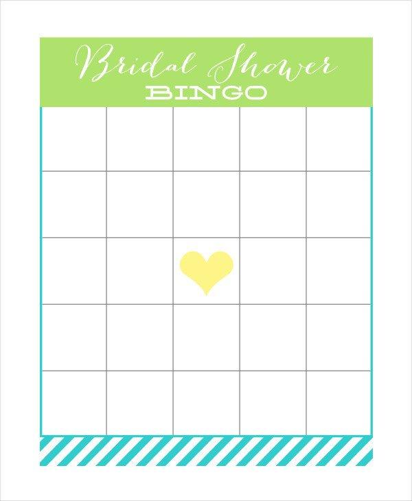 Bridal Shower Bingo Templates Free Printable Bingo Card 7 Free Pdf Documents Download
