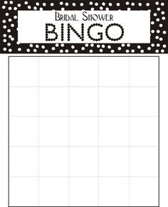 Bridal Shower Bingo Templates Free Printable Bridal Bingo Template