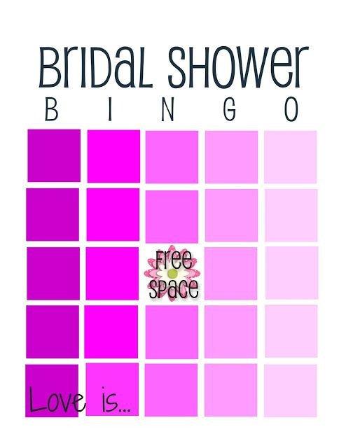 Bridal Shower Bingo Templates Love is Bridal Shower Bingo Free Printables
