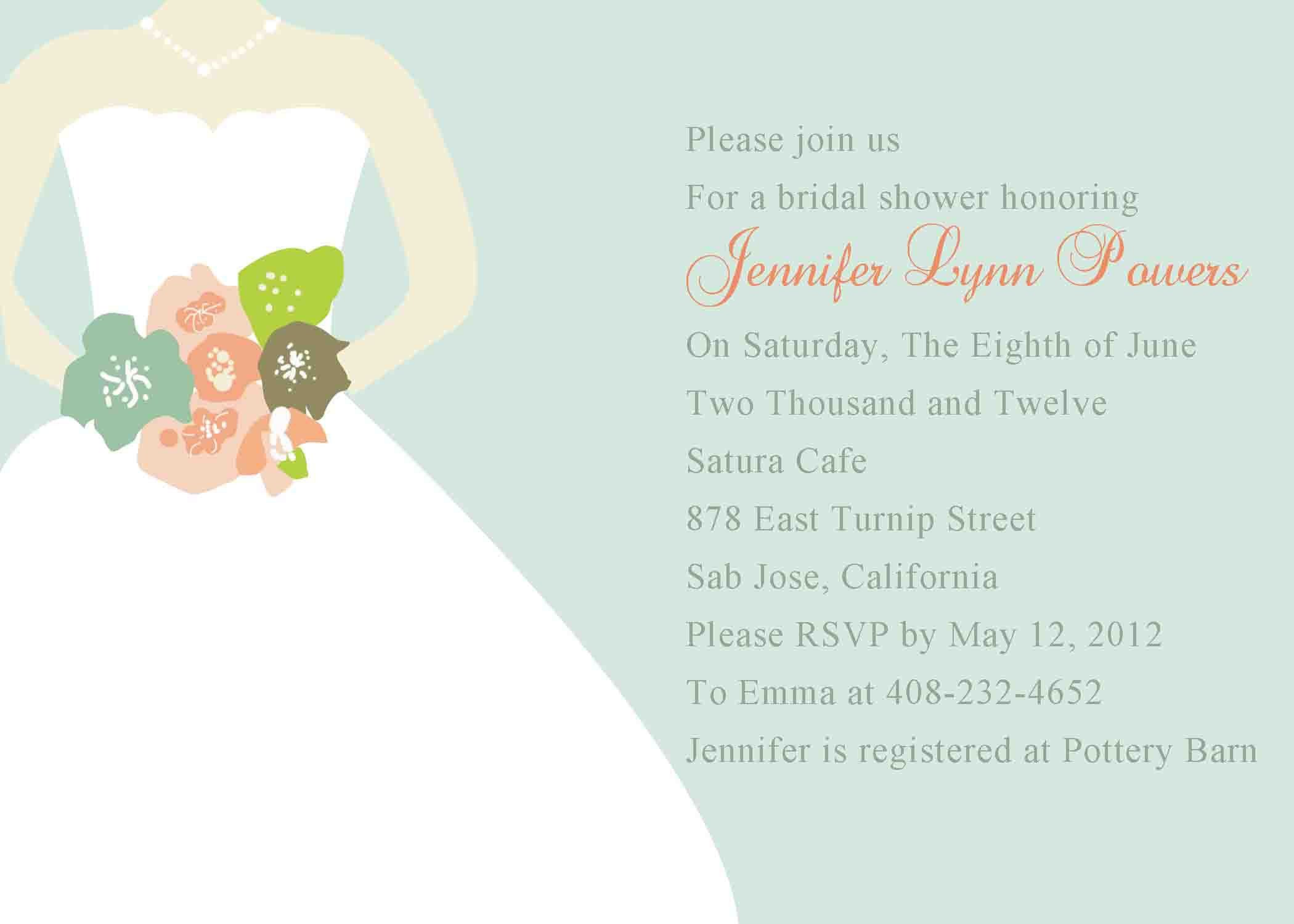 Bridal shower invitation templates bridal shower