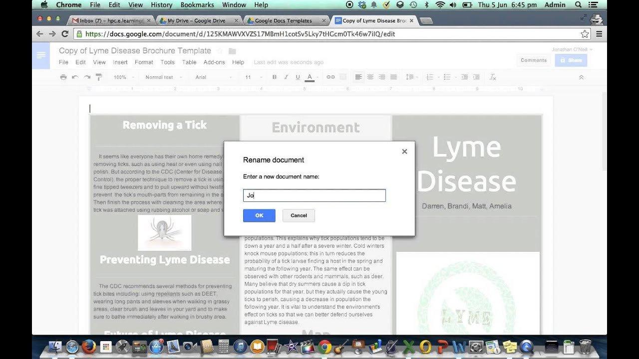 Brochure Template Google Doc Brochure Template In Google Drive