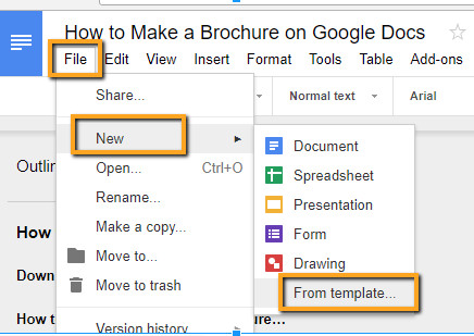 Brochure Template Google Doc How to Make A Brochure On Google Docs In Two Ways