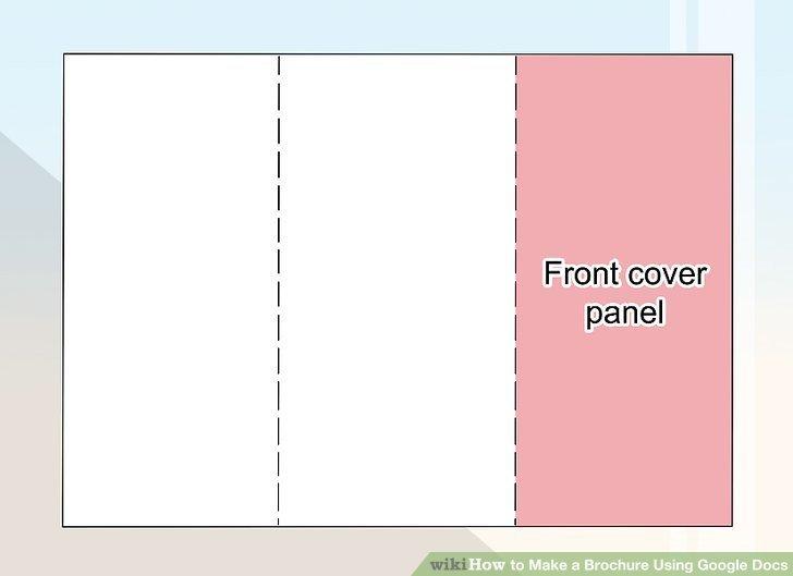 Brochure Template Google Doc How to Make A Brochure Using Google Docs Wikihow