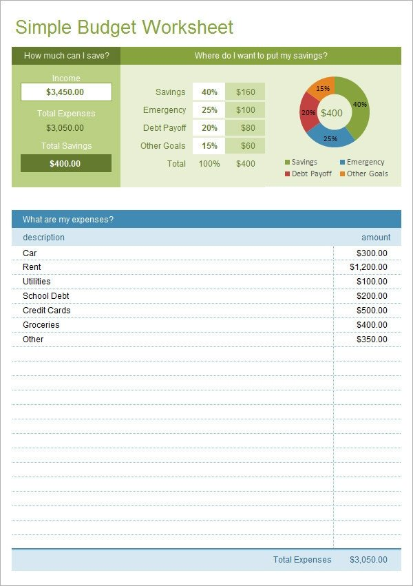 Budget Templates for Excel Sample Bud 11 Example format