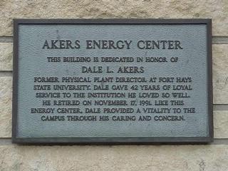 Building Dedication Plaque Wording Samples Akers Dedication Plaque fort Hays State University