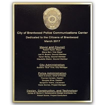 Building Dedication Plaques with Rush Services and Delivery