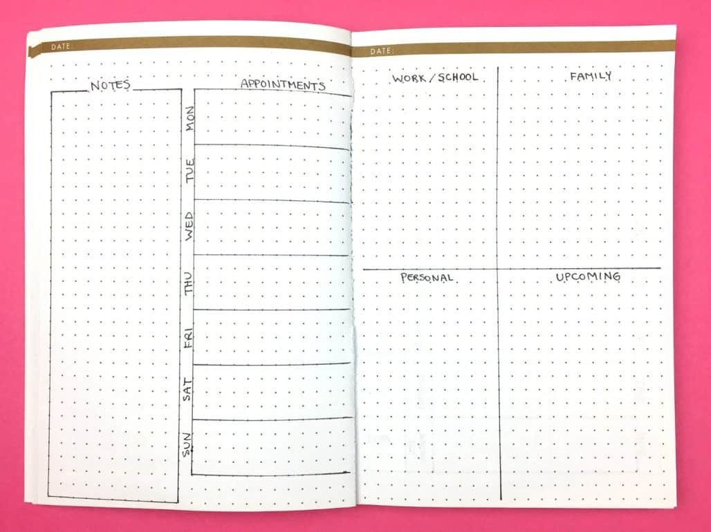 Bullet Journal Layout Templates Bullet Journal Layouts for Writers 8 Ideas for Creative