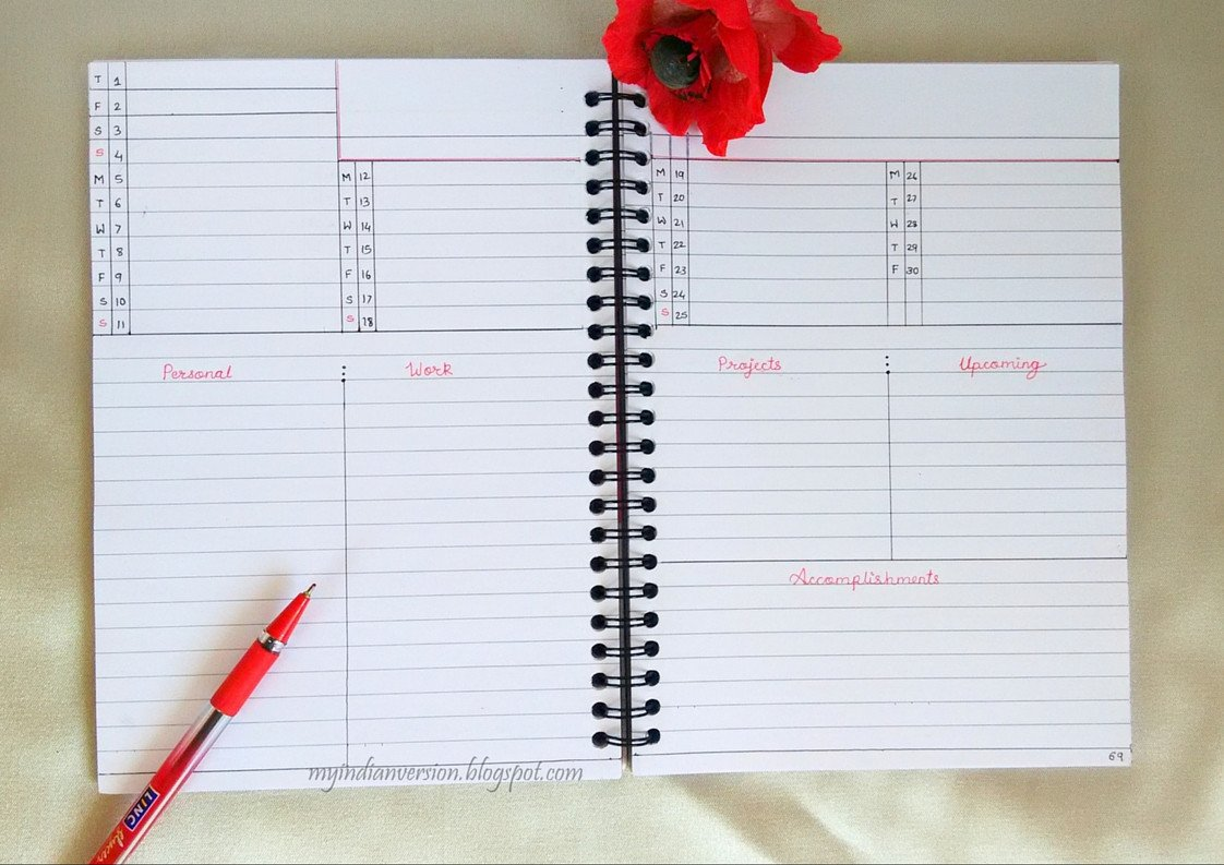 Bullet Journal Layout Templates My Indian Version Bullet Journal – Monthly Layout Ideas