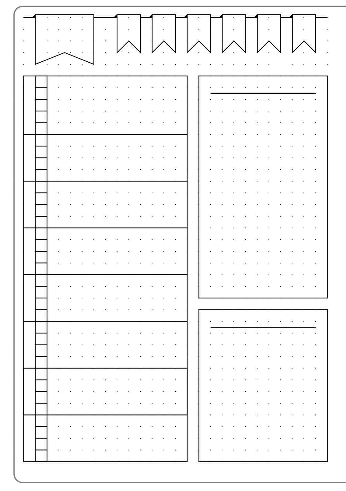 Simple Weekly Layout & Template Kate Louise
