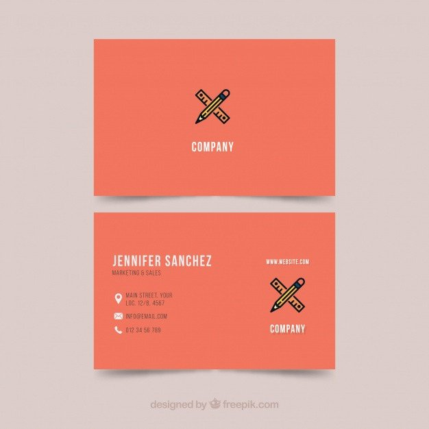 Business card template illustrator Vector
