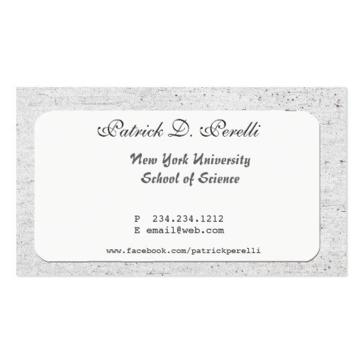 Business Cards for Students University Student College Business Card