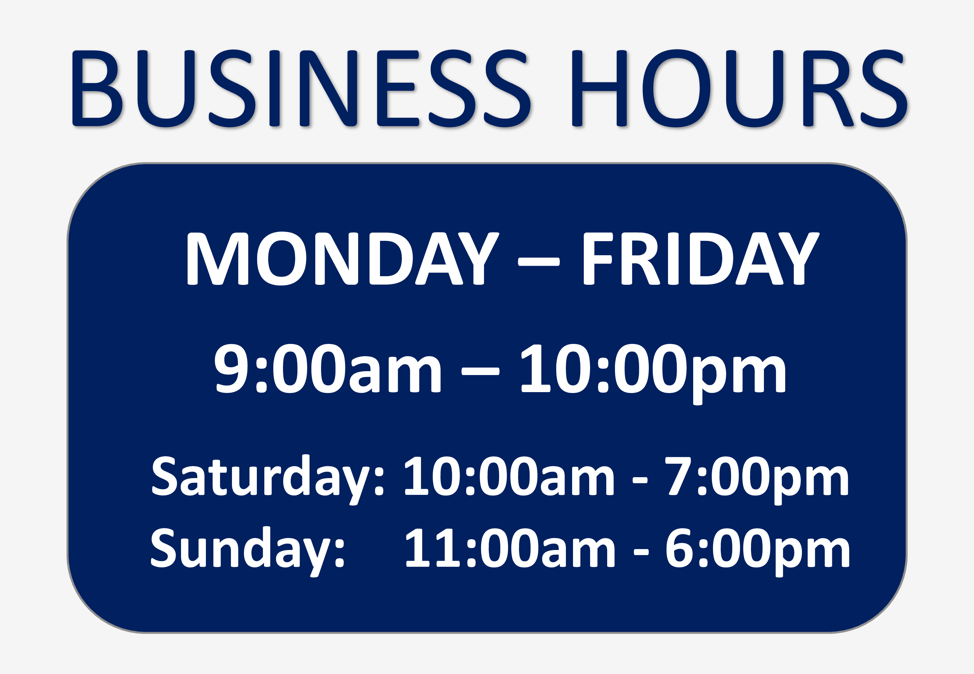 Business Hours Template Microsoft Word Business Hours Sign