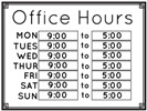 Business Hours Template Microsoft Word Store Hours Signs & Templates