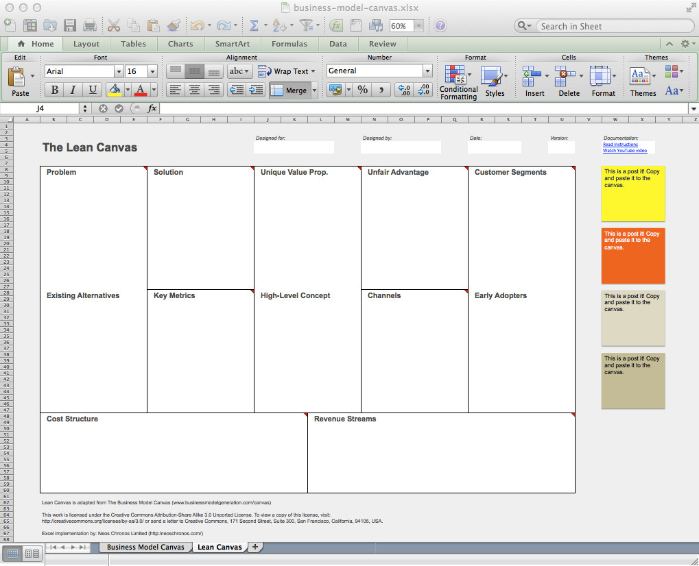 Business Model Canvas and Lean Canvas Templates