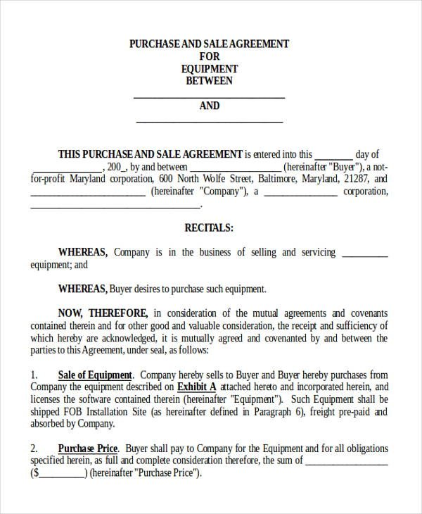 Business Purchase Agreement Template 8 Sample Purchase and Sale Of Business Agreements