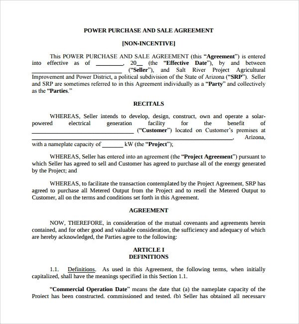 Business Purchase Agreement Template Sample Business Sale Agreement 8 Free Documents