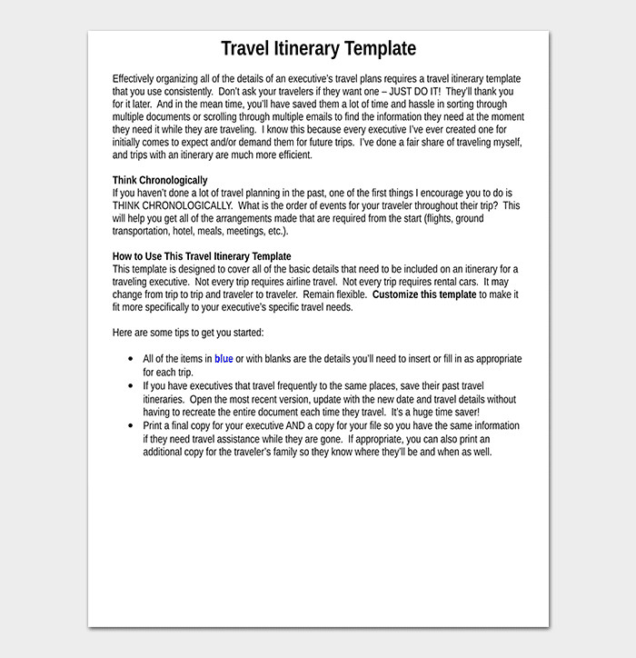 Business Travel Itinerary Template Business Travel Itinerary Template 23 Word Excel & Pdf