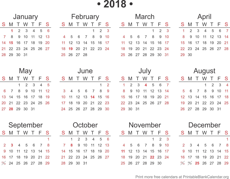 Calendar Template for Word 2018 Calendar Word format Template