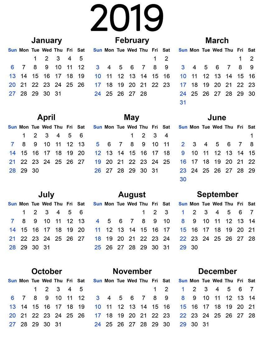 Calendar Template for Word event Calendar 2019 Template