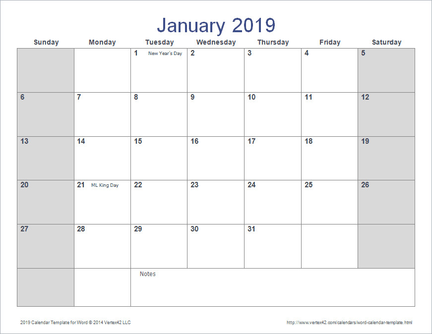 Calendar Template for Word Word Calendar Template for 2016 2017 and Beyond