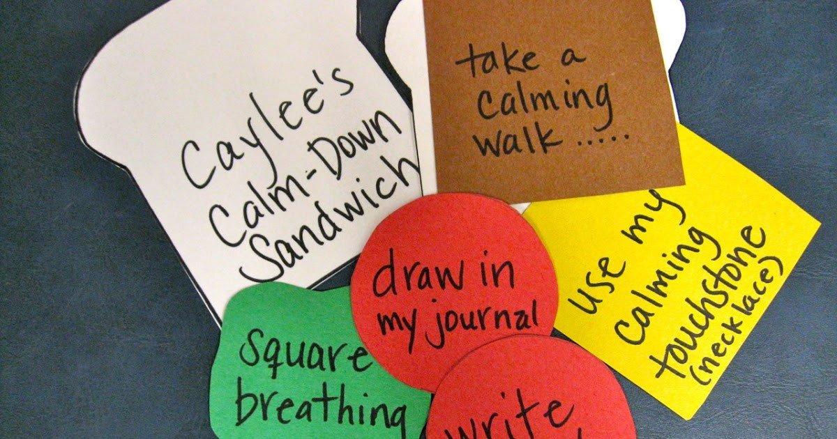 Calm Down Sandwich Template Behavioral Interventions for Kids Calm Down Sandwiches