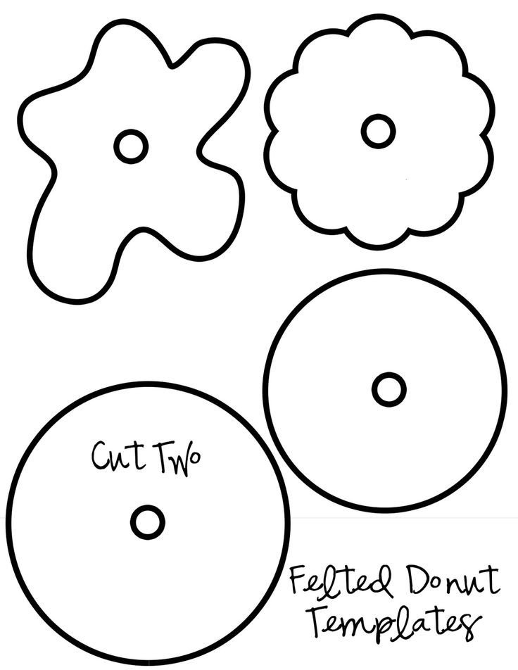 Calm Down Sandwich Template My Pretties Felt Donuts Birds Pinterest