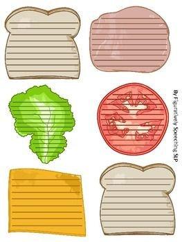 Calm Down Sandwich Template Sandwich Paragraph Writing Skills