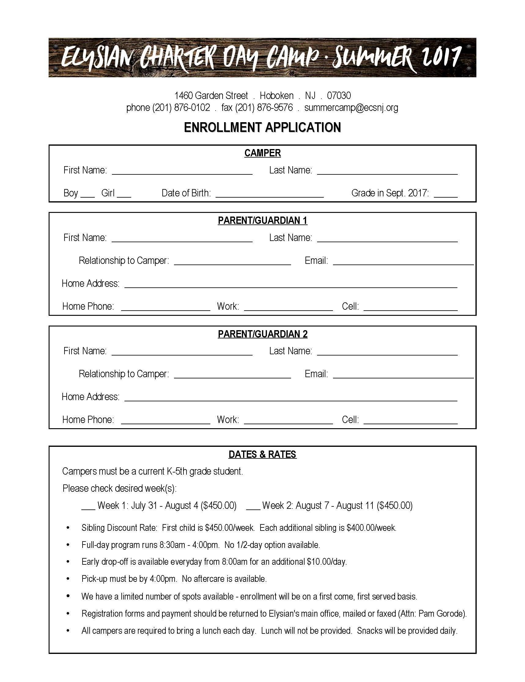 Camp Registration forms Camp Registration form – Elysian Charter School
