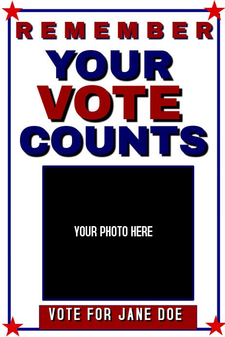 Campaign Poster Template Free Campaign Poster Template