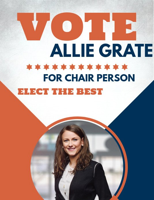 Campaign Poster Template Free Copy Of Run for Chair Person Election Flyer Template