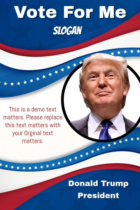 Campaign Poster Template Free Donald Trump Campaign Poster Template