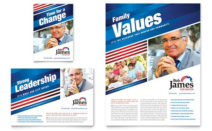 Campaign Poster Template Free Political Campaign Flyer & Ad Template Design